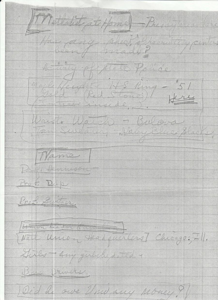 Carl Knox notes -- 3 profs